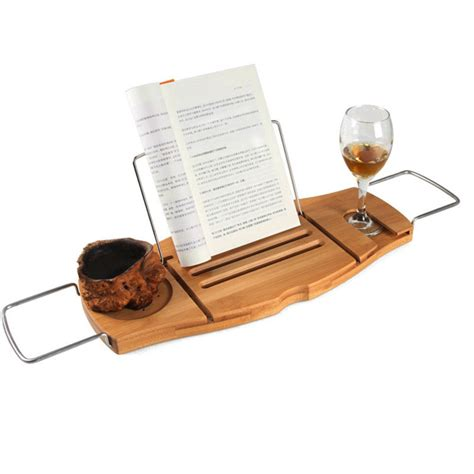 adjustable bathtub caddy bamboo bathtub caddy tray with adjustable holder bathroom