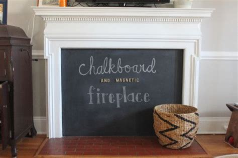 diy chalkboard fireplace happenings fireplaces and command strips on