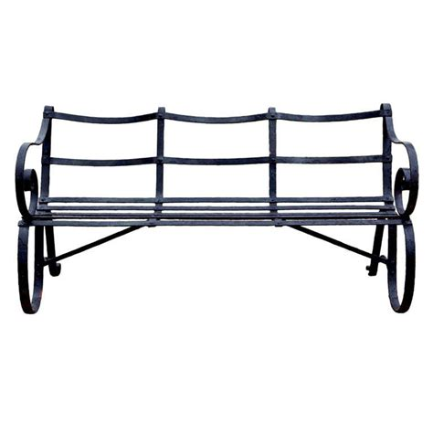 wrought iron garden bench seat graphic wrought iron garden seat at 1stdibs