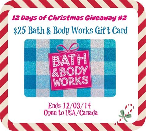 Check Bath And Body Works Gift Card - 12 days of christmas 25 bath body works gift card giveaway thrifty momma ramblings
