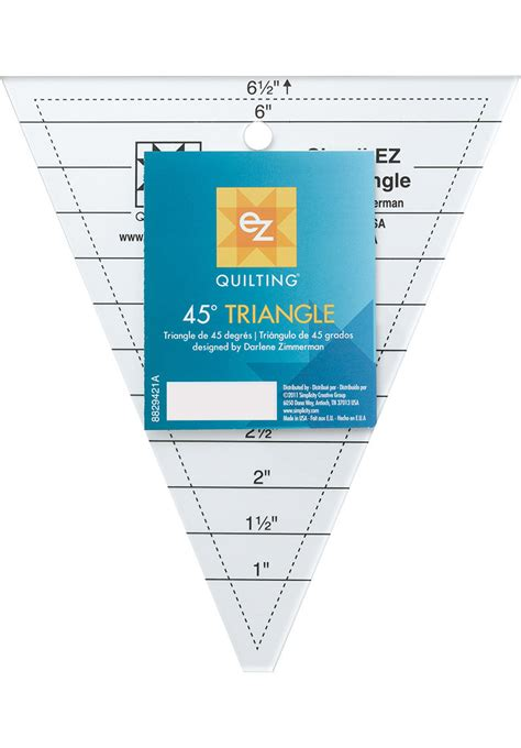 quilters rulers and templates ez quilting template 45 triangle