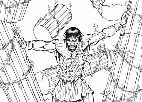 Samson Pillars Coloring Page by Coloring Pages Of Samson Coloring Home