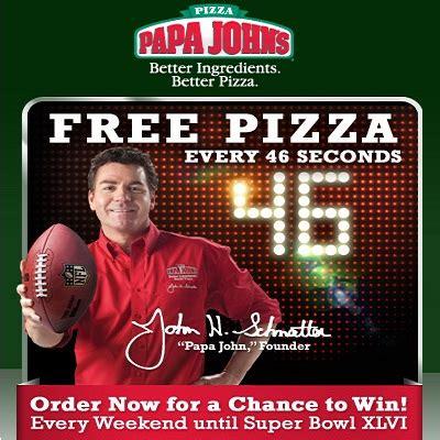 Papa John S Pizza Giveaway - papa john s 46 second pizza giveaway sweepstakesbible