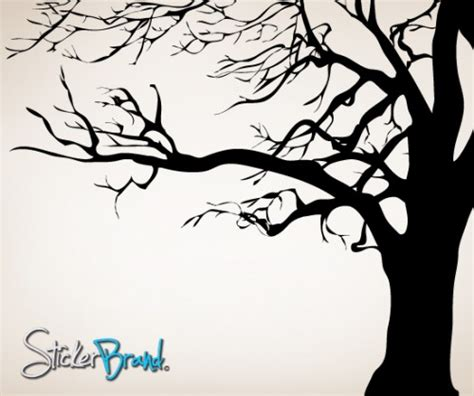 Wall Stickers Tree Branches vinyl wall decal sticker large spooky tree ac122