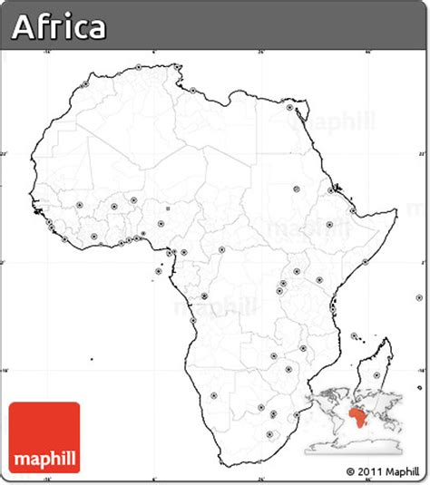 africa map no labels free blank simple map of africa cropped outside no labels
