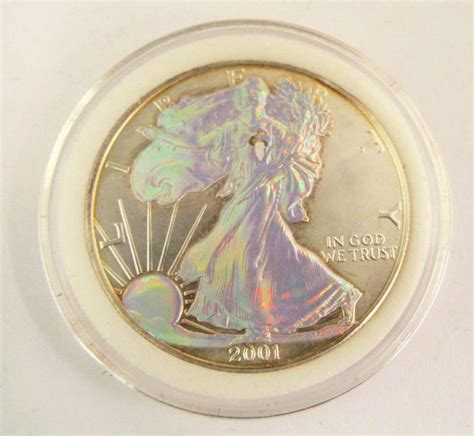 1 Oz Silver One Dollar 2001 - 2001 united states 1 oz silver one dollar