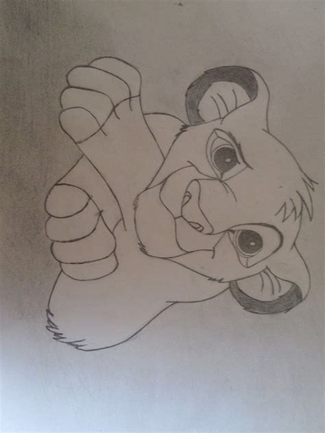 Rafiki Simba Drawing