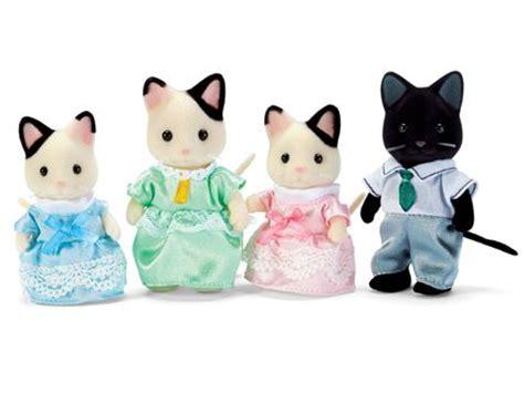 Sylvanian 5181 Tuxedo Cat Family cats tuxedo cats and on
