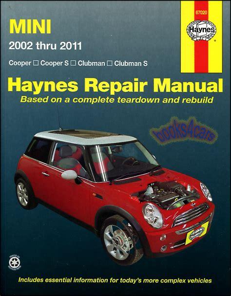 how to download repair manuals 2008 mini cooper regenerative braking mini cooper shop manual service repair book clubman s haynes workshop chilton gt ebay