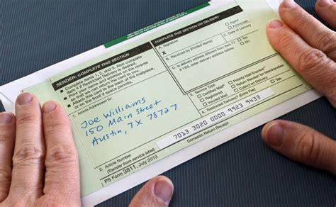 prepare  mail certified letters bizfluent