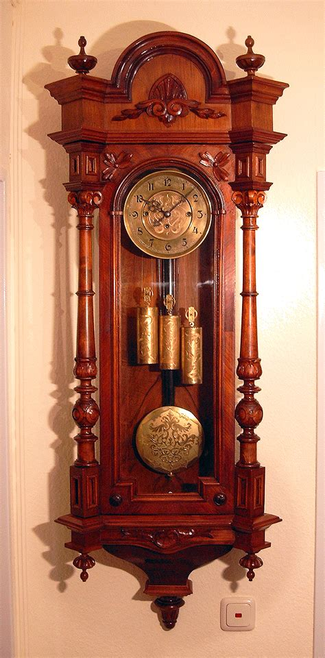 wall mounted grandfather clock gustav becker