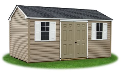 Vinyl Sided Sheds by Peak A Frame Style Sheds Pine Creek Structures