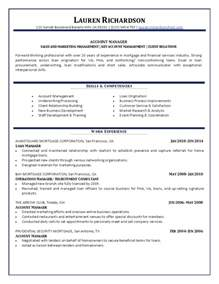 Wholesale Mortgage Account Executive Sle Resume by Account Manager Resume