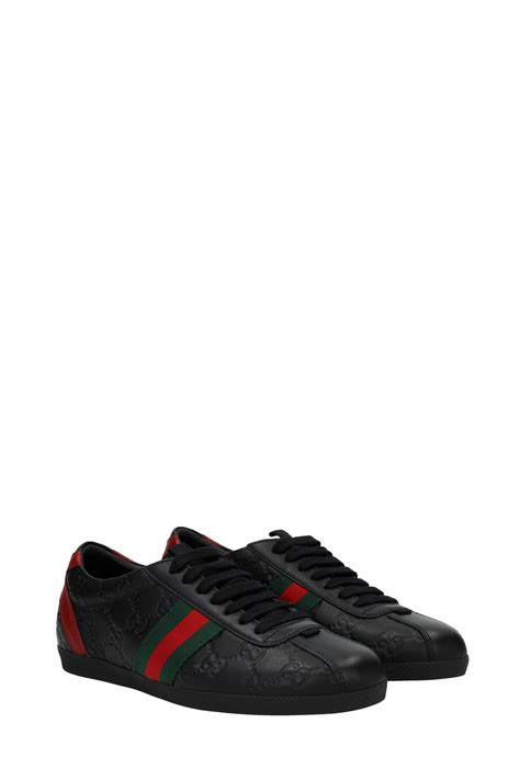 Gucci Sneakers List Black sneakers gucci leather black 40496axwl01086 ebay