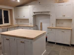 Grey Oak Kitchen Cabinets Kitchen Work In Progress From Pineland Grey Limestone Tiles Units Cornforth White Oak