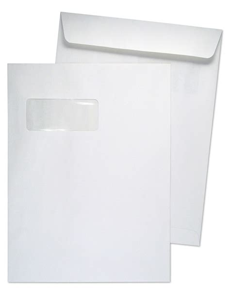9 x 12 catalog 28lb white wove horizontal window 2