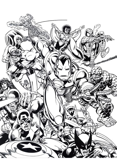 marvel coloring pages adults comic coloring pages free coloring home