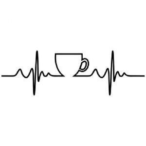 coffee heartbeat decal cars boats sticker (white) | ebay