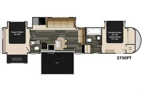 5th wheel cer floor plans 5th wheel cer floor plans 2 bedroom 5th wheel floor plans