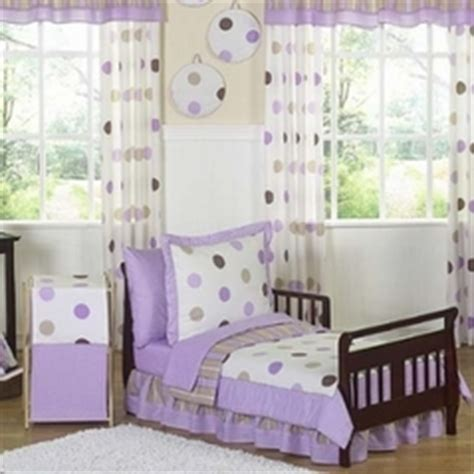 purple brown white polka dots toddler girl comforter girls toddler bedding sets