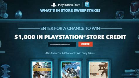Playstation 1000 Giveaway - free playstation giveaway 1000 store credit playstation sweepstakes 2017 youtube