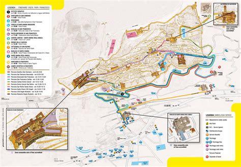 ufficio turistico assisi mappa visita papa francesco e informazioni logistiche