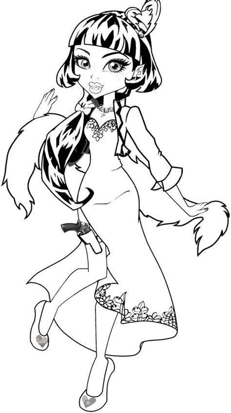 257 Best Images About Printables For Grandkids On High Draculaura Coloring Pages
