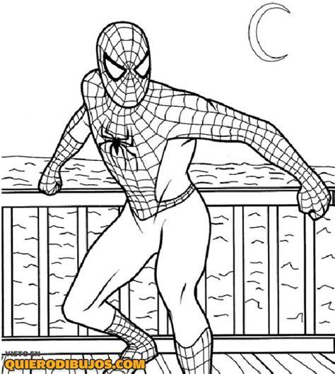 imagenes para pintar spiderman spiderman llega de la nada