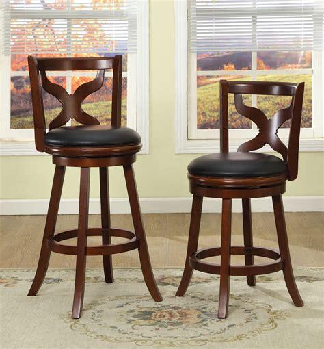 25 Inch Swivel Bar Stools by Furniture Of America Cherry Nazar Low Swivel 25 Inch