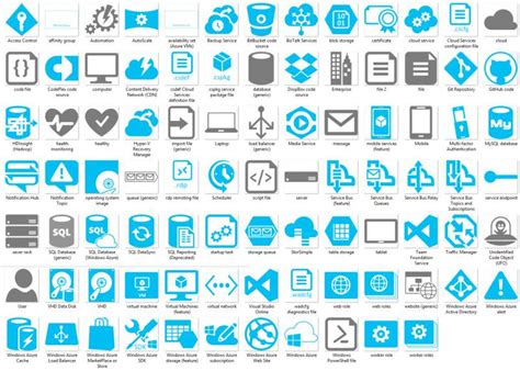 microsoft cloud and enterprise symbol icon set spiff up your visio docs and powerpoint presentations with