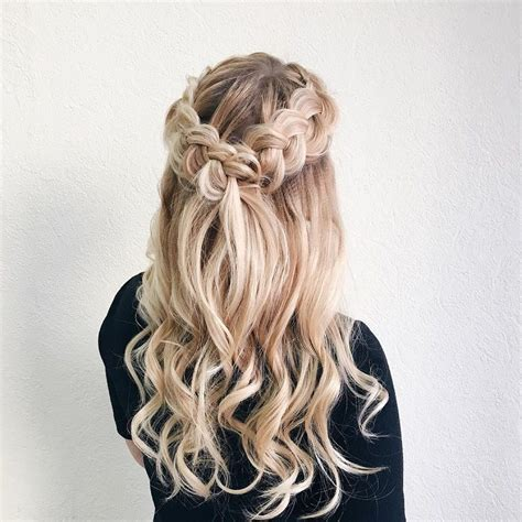 partial updo with braids half up half down wedding hairstyle partial updo bridal