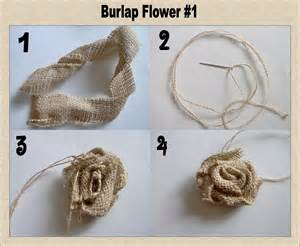 Tutorial i opted not to sew the burlap flowers but to hot glue them
