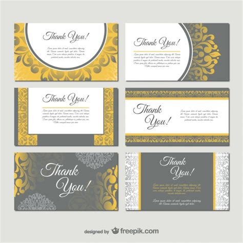 damask style business card templates vector free download