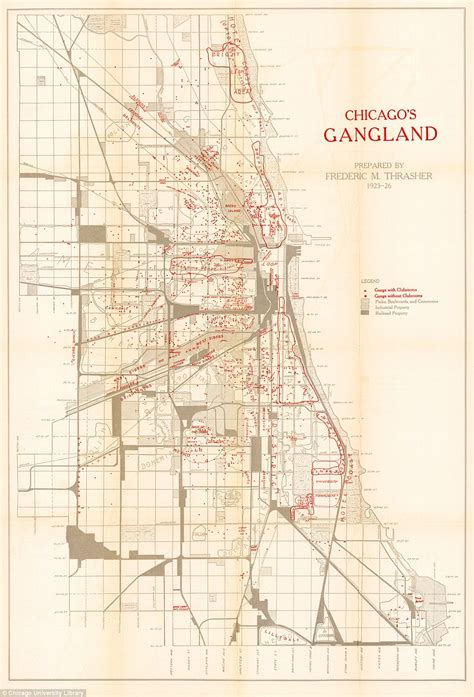 chicago map 1920 this map from the 1920s plotted exactly where