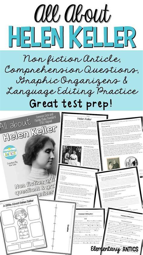 hellen keller scholastic biography questions 17 best images about reading workshop on pinterest