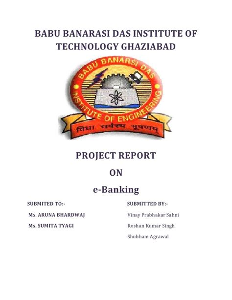 Institute Of Technology Scheller Mba Class Profile by Project Report On E Banking