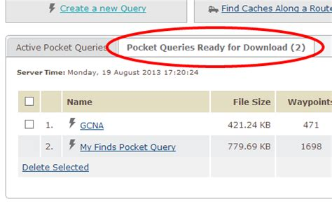 use a pocket query to download coordinates to your gpsr