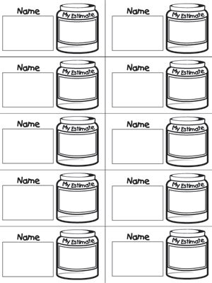 guess my number printable cards estimation jar slips fuel the brain