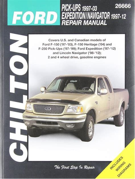 how to download repair manuals 2010 ford f series interior lighting 1997 2003 ford f150 1997 1999 f250 chilton repair service shop manual 2096 ebay