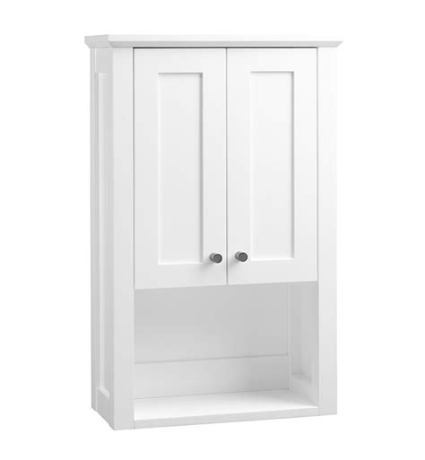 shaker bathroom cabinets ronbow 688118 3 w01 shaker bathroom wall cabinet in white