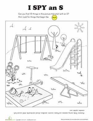 K Sound Coloring Pages by I Letter S Worksheet Education
