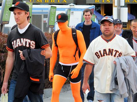 sf giants fan forum day 280 365 sf giants fans off to the game creepy or