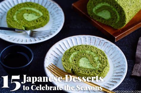 japanese desserts  celebrate  seasons
