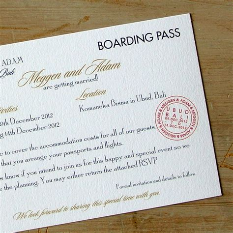 Wedding Invitation Boarding Pass by Boarding Pass Wedding Invitations Flamingo