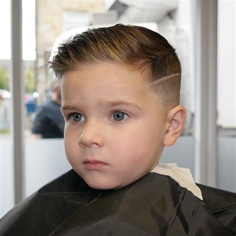 toddler undercut slick haircut with a quiff hair kids pinterest