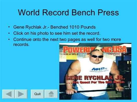 gene rychlak bench press nick ed pp interactive tour of weight lifting