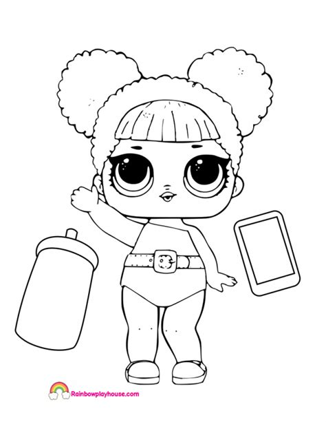 lol dolls coloring page lol dolls coloring pages free