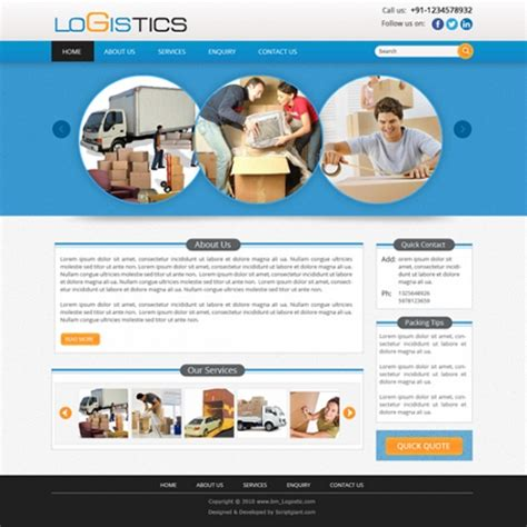 templates for courier website courier business website has inbuilt features software