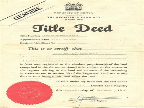 Property Title Records 5 000 Unclaimed Title Deeds Been Recovered