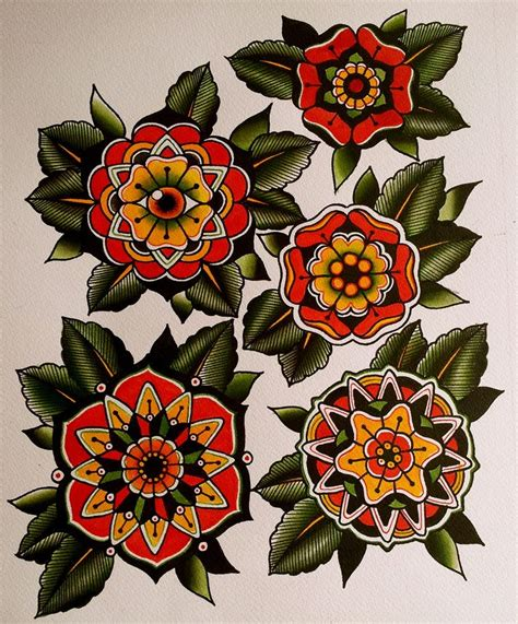 flower tattoo flash best 20 traditional mandala ideas on